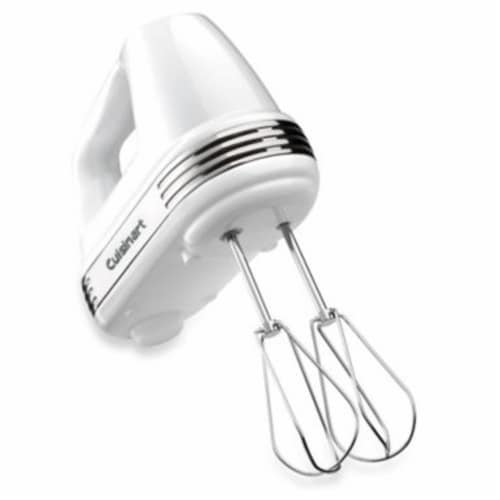 Cuisinart Power Advantage 7 Speed Hand Mixer - White Perspective: front