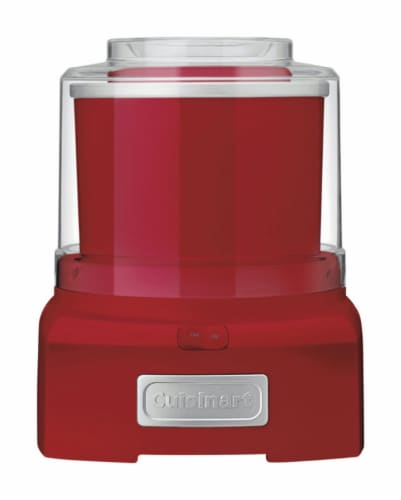 Cuisinart Red 1.5 qt. Ice Cream Maker 11.26 in. H x 9.06 in. W x 9.17 in. L - Case Of: 1; Perspective: front