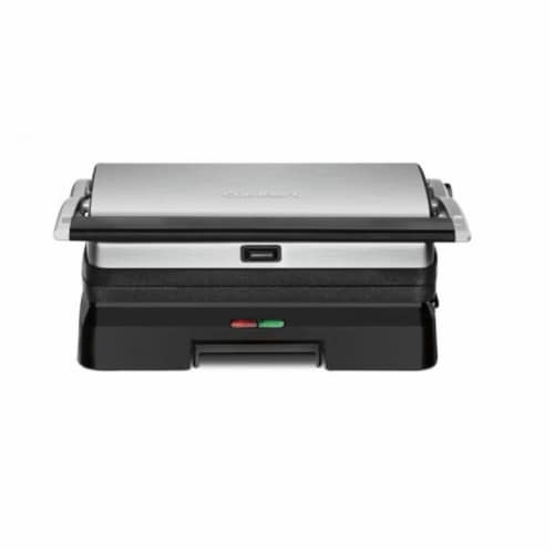 Cuisinart Griddler Grill & Panini Press - Silver/Black Perspective: front