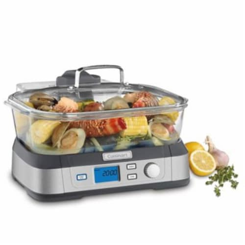 Cuisinart Cook Fresh Digital Glass Steamer Perspective: front