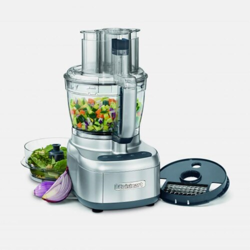 Cuisinart Elemental 13 Cup Silver Chopper Food Processor (Refurbished) Perspective: front