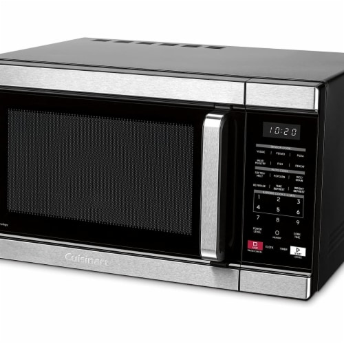 Cuisinart CMW-110 Stainless Steel Microwave with Sensor Cook & Inverted Technology, Silver Perspective: front