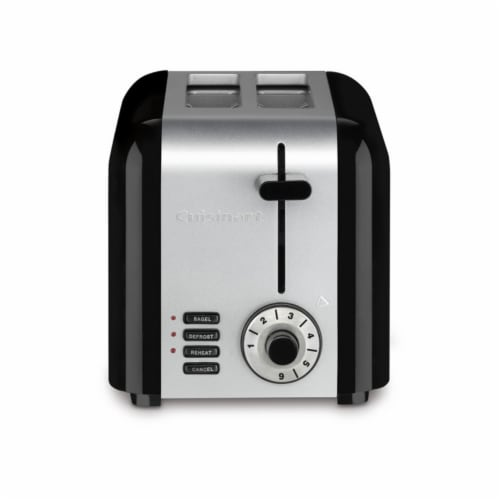 Cuisinart 2-Slice Brushed Hybrid Toaster - Stainless Steel Perspective: front