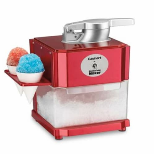 Cuisinart Snow Cone Maker - Red/Silver Perspective: front