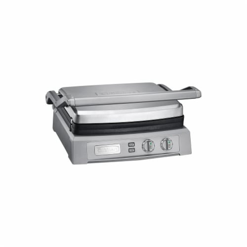 Cuisinart 6258495 14.6 in. Stainless Steel Nonstick Surface Griddle Perspective: front