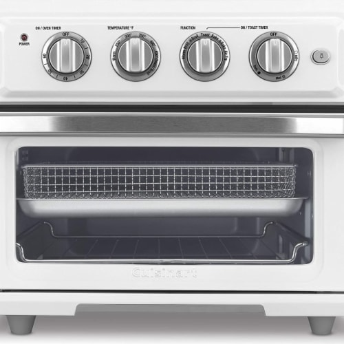 Cuisinart TOA-60W Airfryer Toaster Oven, White Perspective: front
