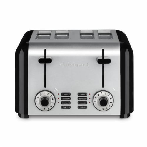 Cuisinart 4-Slice Hybrid Toaster - Brushed Stainless Steel Perspective: front