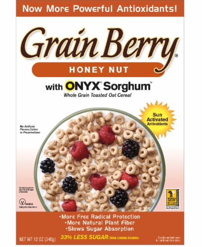 Grain Berry Honey Nut Toasted Oats Perspective: front