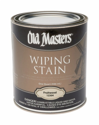 Old Masters  Semi-Transparent  Fruitwood  Oil-Based  Wiping Stain  1 qt. - Case Of: 4; Perspective: front