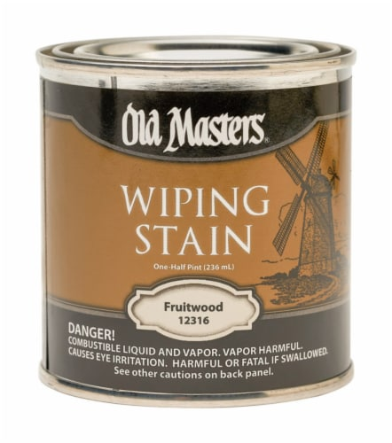 Old Masters Semi-Transparent Fruitwood Oil-Based Wiping Stain 0.5 pt. - Case Of: 6; Perspective: front