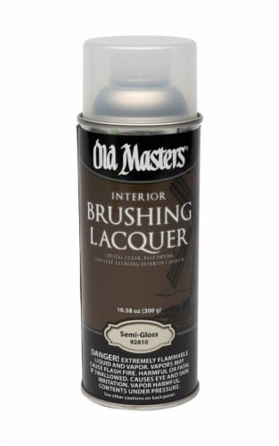 Old Masters  Semi-Gloss  Clear  Oil-Based  Brushing Lacquer  10.58 oz. - Case Of: 6; Perspective: front