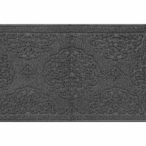 buyMATS 91-673-5406-01700030 17 x 30 in. Grand Impressions Door Mats, Gray Perspective: front
