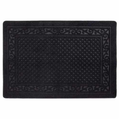 buyMATS 91-673-5402-03100045 31 x 45 in. Grand Impressions Scroll Trellis Mats, Black Perspective: front