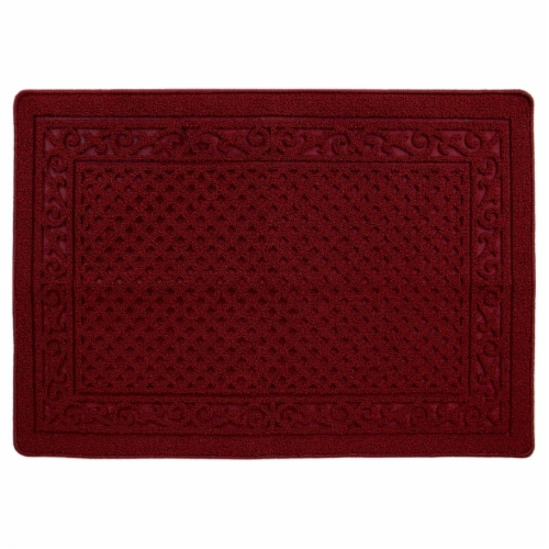 buyMATS 91-673-5403-03100045 31 x 45 in. Grand Impressions Scroll Trellis Mats, Red Perspective: front