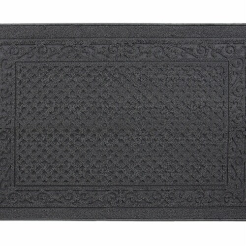 buyMATS 91-673-5404-03100045 31 x 45 in. Grand Impressions Scroll Trellis Mats, Gray Perspective: front