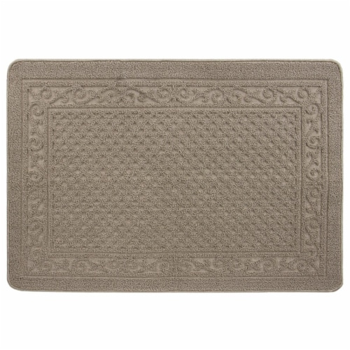 buyMATS 91-673-5405-03100045 31 x 45 in. Grand Impressions Scroll Trellis Mats, Tan Perspective: front