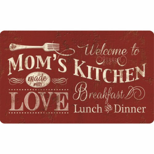 buyMATS 60-122-5490-01800030 18 x 30 in. Cushion Comfort Welcome To Moms Kitchen Mats, Multi- Perspective: front