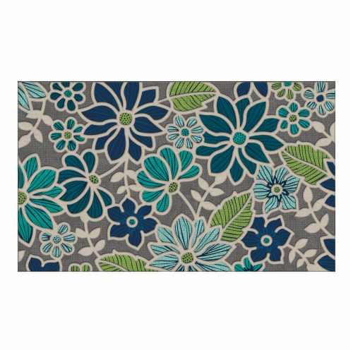 buyMATS 60-840-5405-01800030 18 x 30 in. Sculptures Washington Floral Mats, Multi-Color Perspective: front
