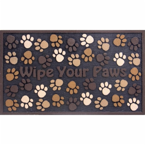 buyMATS 60-730-5499-01800030 18 x 30 in. Masterpiece Wipe Your Paws Mats, Brown Perspective: front