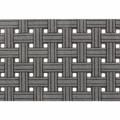 buyMATS 60-788-5403-01800030 18 x 30 in. Veldura Basket Weave Mats, Granite Perspective: front