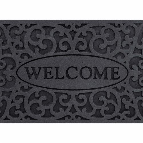 buyMATS 60-890-5404-01800030 18 x 30 in. Veldura Welcome Iron Mats, Granite Perspective: front