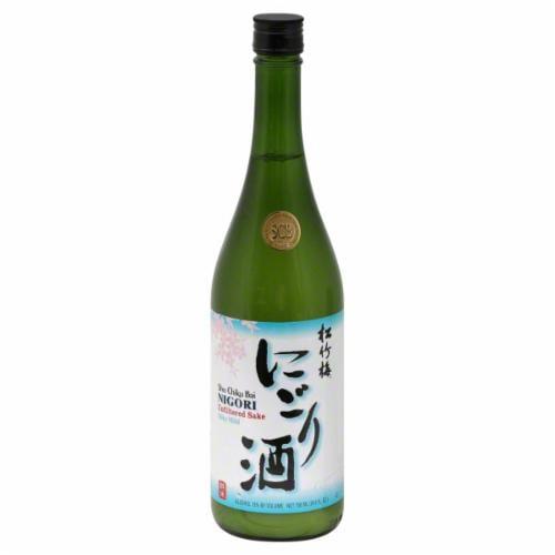 Sho Chiku Bai Nigori Silky Mild Sake Perspective: front