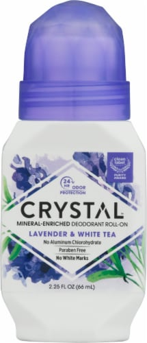Crystal Essence Lavender and White Tea Roll On Deodorant Perspective: front