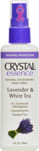 Crystal Essence Lavender & White Tea Body Spray Perspective: front