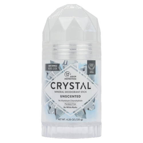 Crystal Unscented Mineral Deodorant Stick Perspective: front