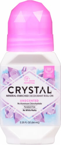 Crystal Unscented Mineral Roll-On Deodorant Perspective: front