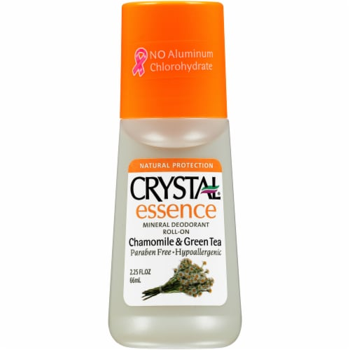 Crystal Essence Chamomile & Green Tea Roll-On Deodorant Perspective: front