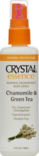 Crystal Essence Chamomile & Green Tea Deodorant Body Spray Perspective: front