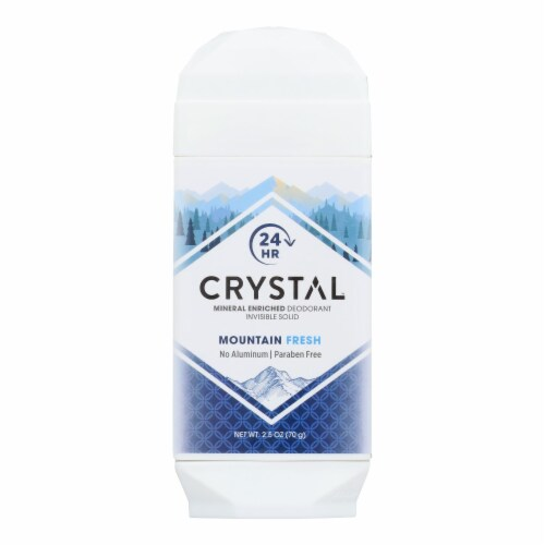 Crystal Deodorants - Deodorant Invsbl Sld Mtn Fresh - 1 Each - 2.5 OZ Perspective: front