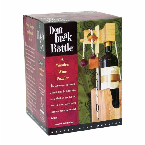 Family Games Inc. Don't Break the Bottle Brain Teaser Puzzle Perspective: front