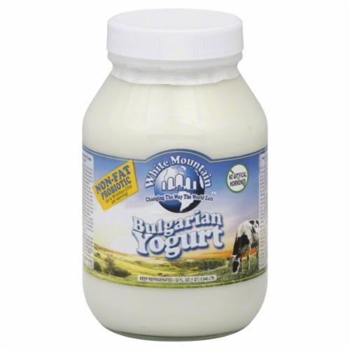 White Mountain Plain Non Fat Yogurt Perspective: front
