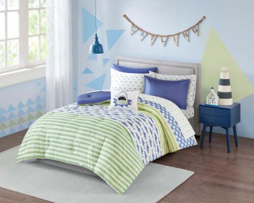 Moonbeams Finn Shark Bed-In-A-Bag Comforter Set Perspective: front