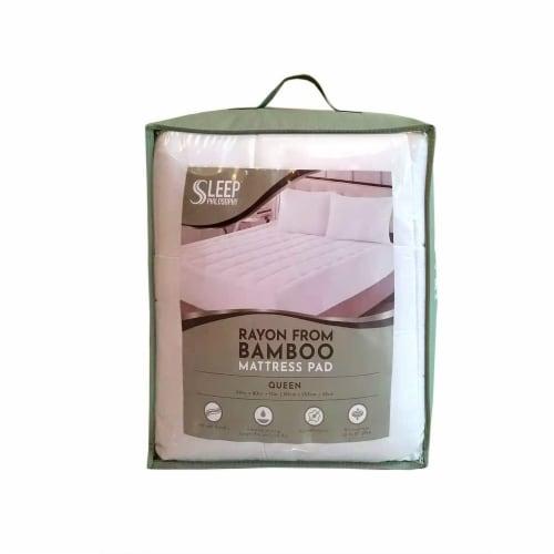 Sleep Philosophy Bamboo Mattress Pad Perspective: front