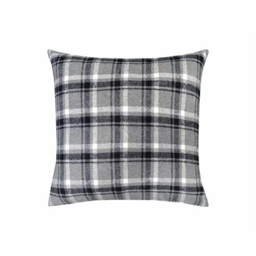 JLA Home Plaid Decor Pillow - Grey Perspective: front