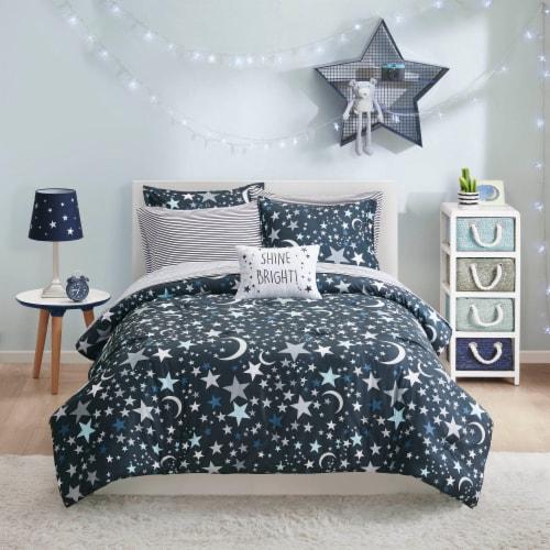 Moonbeams Starry Night Comforter Perspective: front