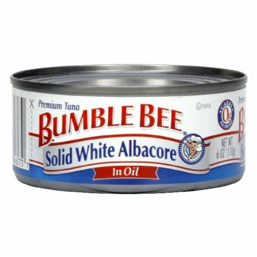 Bumble Bee Solid White Tuna in Oil Perspective: front