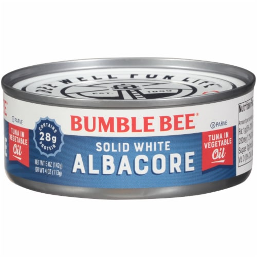 Bumble Bee Solid White Albacore Tuna in Vegetable Oil Perspective: front