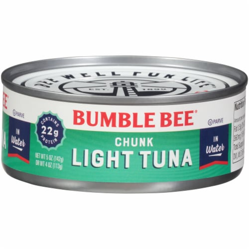 Bumble Bee Chunk Light Tuna in Water Perspective: front