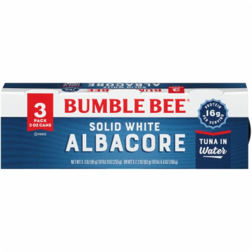 Bumble Bee Solid White Albacore Tuna in Water Cans Perspective: front