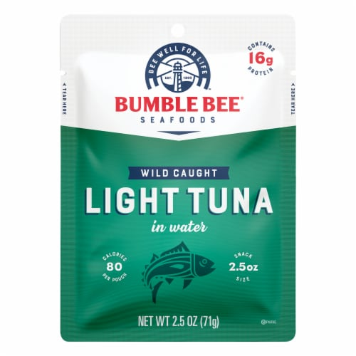Bumble Bee Wild Caught Light Tuna in Water Pouch Perspective: front