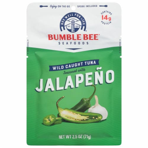 Bumble Bee Jalapeno Seasoned Wild Caught Tuna Perspective: front