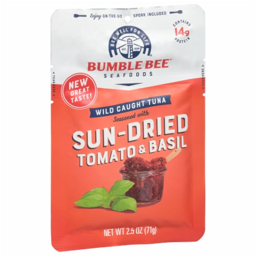 Bumble Bee Sun Dried Tomato & Basil Seasoned Tuna Perspective: front