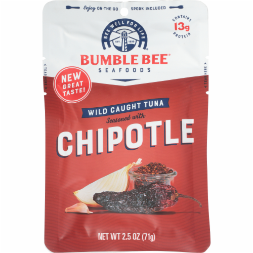 Bumble Bee Chipotle Seasoned Wild Caught Tuna Perspective: front