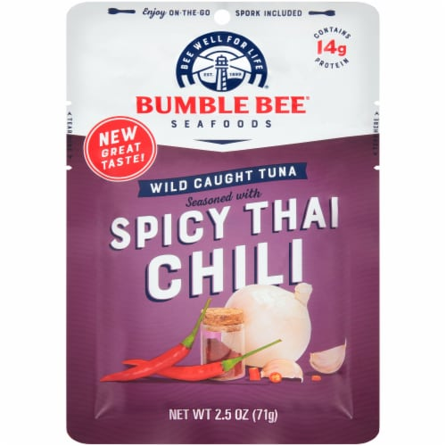Bumble Bee Spicy Thai Chili Seasoned Tuna Pouch Perspective: front