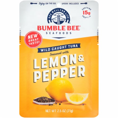 Bumble Bee Lemon & Pepper Seasoned Tuna Pouch Perspective: front