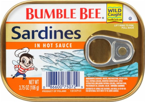 Bumble Bee Sardines in Hot Sauce Perspective: front